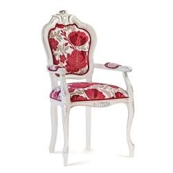 Scaun cu brate - Filippona Intagliata  - Scaune clasice si moderne din lemn masiv