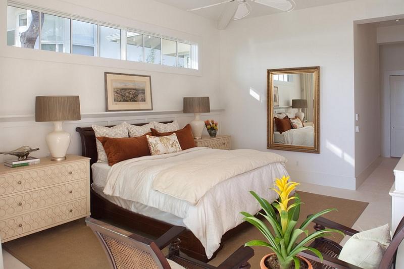 Complexitatea vizuala oferita de o oglinda - Nu va speriati de un dormitor la subsol!