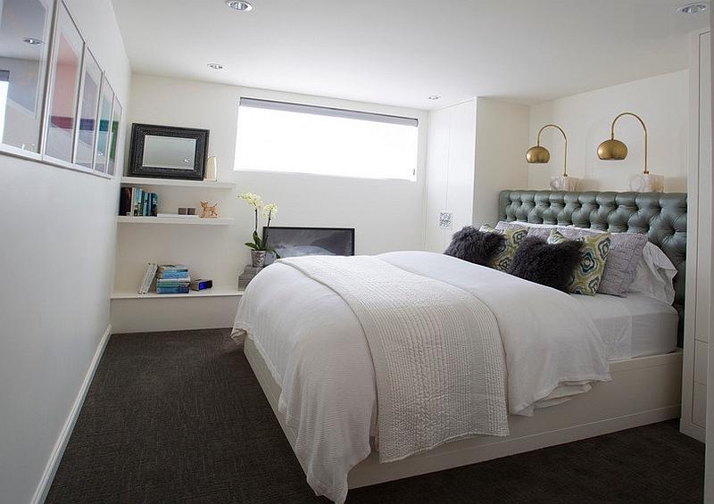 Dormitor in culori deschise - Nu va speriati de un dormitor la subsol!