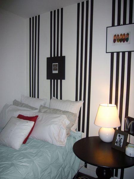 Dungi verticale pe un perete al dormitorului de la subsol - Nu va speriati de un