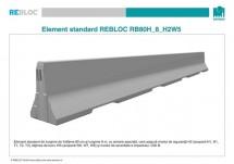 Element standard RB80H_8_H2W5 - Parapeti din beton