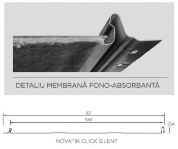 Novatik CLICK Silent - detaliu membrana fonoabsorbanta - Detaliu membrana fono-absorbanta
