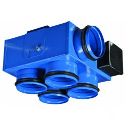 Ventilator tubulatura 3 viteze, 1 intrare 4 iesiri, 97/138/176 mc/h - Ventilatie industriala ventilatoare centrifugale