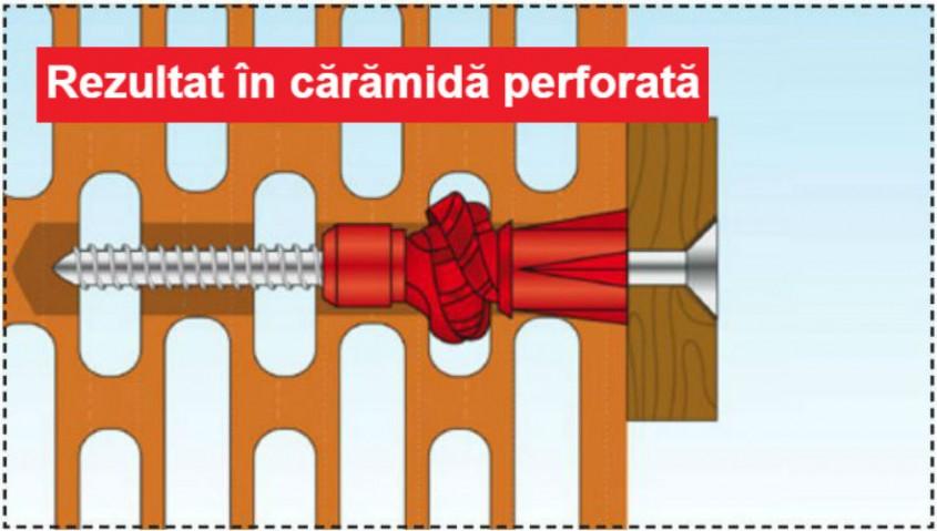 Rezultat in caramida perforata - Structuri durabile cu diblurile Tox Tri