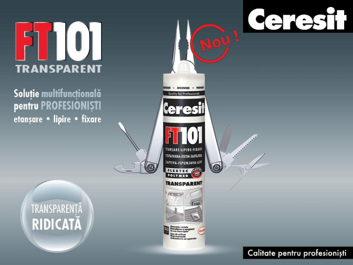 Ceresit FT101 transparent, solutia multifunctionala pentru profesionisti - Ceresit FT101 transparent, solutia multifunctionala pentru profesionisti