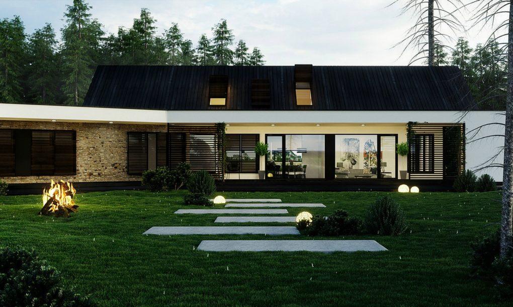 O casa in padure beneficiaza de gradini verticale - O casă în pădure beneficiază de grădini vertical