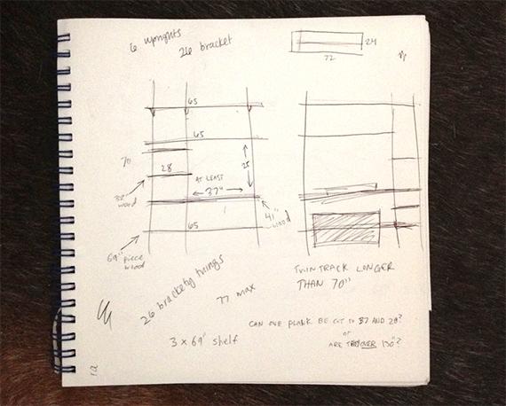 Schita proiectului - Inspiratie si DIY: creeaza-ti singur niste rafturi de perete utile