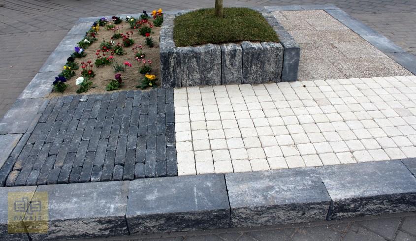 Palisade flori - Idei de amenajare a curtii si gradinii cu blocuri din beton