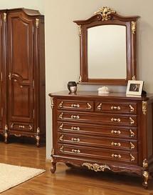 Comoda lemn masiv Royal Gold - Mobila dormitor lemn masiv Royal Gold