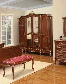 Dulap 4 usi lemn masiv Royal Gold - Mobila dormitor lemn masiv Royal Gold