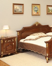 Noptiera lemn masiv Royal Gold - Mobila dormitor lemn masiv Royal Gold