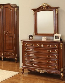 Oglinda pentru comoda lemn masiv Royal Gold - Mobila dormitor lemn masiv Royal Gold