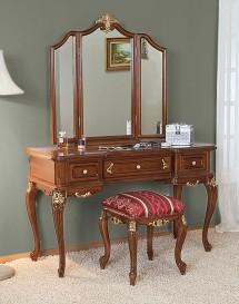 Toaleta cu oglinda lemn masiv Royal Gold - Mobila dormitor lemn masiv Royal Gold