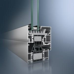 Profil din aluminiu pentru fereastra - Schüco AWS 75 BS.SI+ - Profil din aluminiu pentru fereastra - Schüco AWS 75 BS.SI+