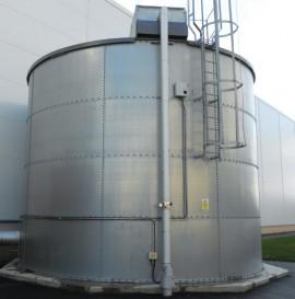 Rezervoare cilindrice din panouri galvanizate - Rezervoare din tabla galvanizata