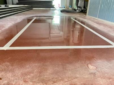 Pardoseala beton - dupa slefuire - Servicii de slefuire beton pentru suprafete mari