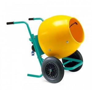 Betoniera profesionala, motor monofazat, 2P, 0.37 kW - cuva plastic - Imer Rollbeta 130 - Betoniere