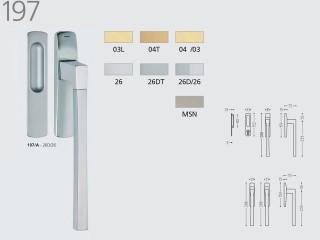 Maner pentru usi culisante prin ridicare - 197 - Manere pentru usi de interior si exterior