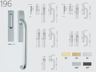 Maner pentru usi culisante prin ridicare - 196 - Manere pentru usi de interior si exterior