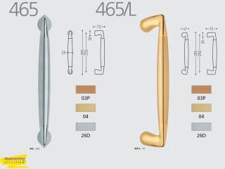 Maner pentru usi culisante de interior din lemn sau sticla - 465 / 465L - Manere pentru usi de interior si exterior