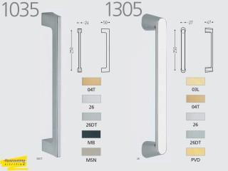 Maner pentru usi culisante de interior din lemn sau sticla - 1035 / 1305 - Manere pentru usi de interior si exterior