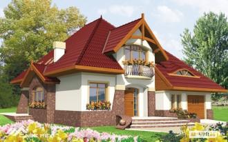 Casa cu mansarda pe structura metalica usoara - Adela  - Case pe structura metalica - CASE MEXI