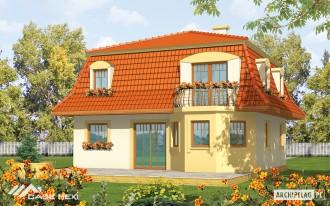 Casa cu etaj pe structura metalica usoara - Agata - Case pe structura metalica - CASE MEXI