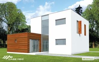Casa moderna pe structura metalica usoara - Aron - Case pe structura metalica - CASE MEXI