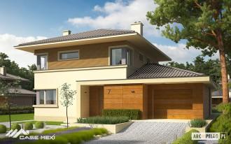 Casa cu etaj pe structura metalica usoara - Rodrigo - Case pe structura metalica - CASE MEXI
