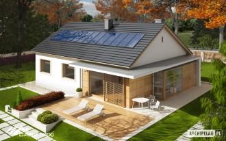Casa moderna pe structura metalica usoara - Emi multiconfort - Case pe structura metalica - CASE MEXI