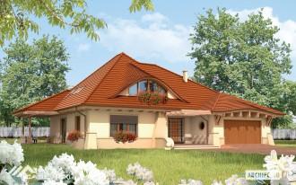 Casa eleganta pe structura metalica usoara - Petra - Case pe structura metalica - CASE MEXI