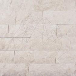 Marmura Cappuccino Scapitata 7cm x LL x 1.2cm - Piatra naturala decorativa marmura cappuccino
