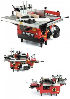 Masina combinata cu 6 functii pentru prelucrarea lemnului COMBI 160 STAYER - Rindele electrice - STAYER