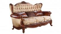 Canapea 3 locuri, tapitata mixt stofa si piele - Mobilier Colectia Toscana