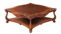 Masuta patrata, Tip B, blat de lemn - Mobilier Colectia Toscana