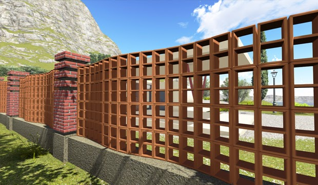 Elementele de gard Brikston - Elementele de gard Brikston