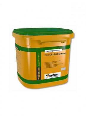 Hidroizolatie sub placari ceramice weber superflex D2 - Hidroizolatii pentru interior si exterior