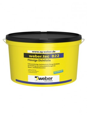 Hidroizolatie sub placari ceramice weber.tec 822 - Hidroizolatii pentru interior si exterior