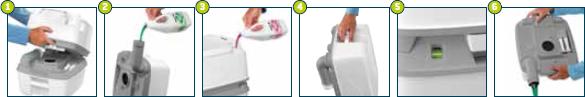 Cum functioneaza toaleta Porta Potti Qube? - Cum functioneaza toaleta Porta Potti Qube