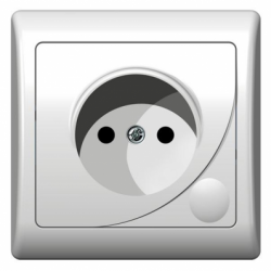 Priza simpla - Aparataj electric efekt