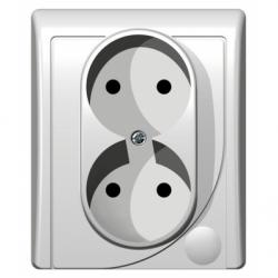 Priza dubla - Aparataj electric efekt