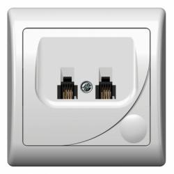 Priza dubla telefon - Aparataj electric efekt