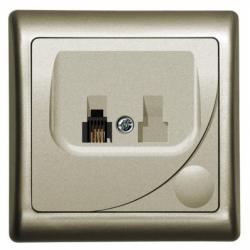 Priza telefon satin - Aparataj electric efekt