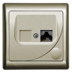 Priza computer satin - Aparataj electric efekt