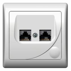 Priza computer dubla - Aparataj electric efekt