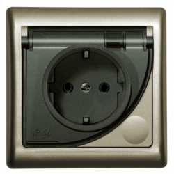 Priza IP-44 sistem francez satin - Aparataj electric efekt