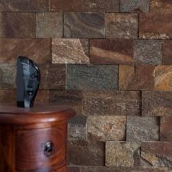 Ardezie Rusty Brown 10cm x LL - Piatra naturala decorativa kavala ardezie