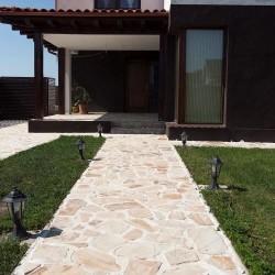 Ardezie poligonala Rhodos - Lespezi (1 mp = 4-10 buc) - Piatra naturala decorativa kavala ardezie