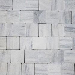 Piatra Cubica Marmura Kavala Antichizata 10 x 10 x 4-5 cm - Piatra naturala decorativa kavala ardezie