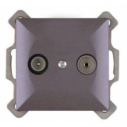 Priza RTV terminala 1.5db, antracit, fara rama - Aparataj electric perla